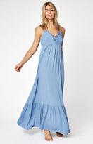 La Hearts Lace-Up Front Maxi Dress