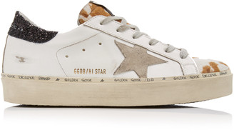 Golden Goose Hi-Star Low-Top Leather Sneakers
