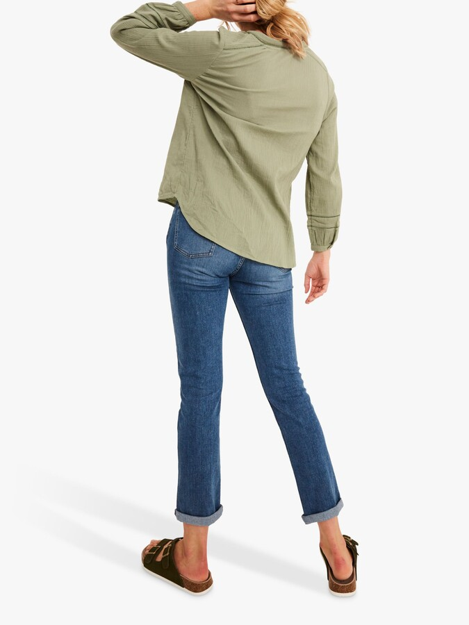 Thumbnail for your product : Fat Face FatFace Frankie Blouse, Soft Sage