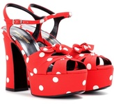 Saint Laurent Candy 80 Bow Platform Sandals