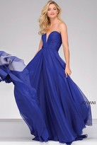 Jovani Strapless Long Chiffon Prom Dress 45210