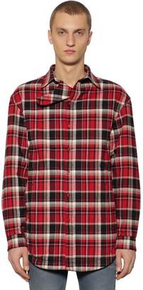 Balenciaga Checked Cotton Flannel Shirt Jacket