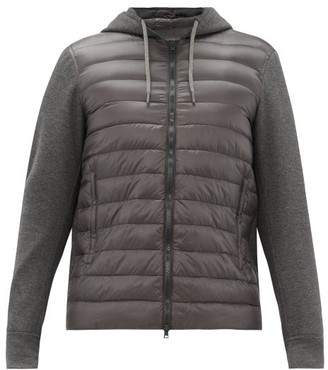 Herno Jersey And Quilted Shell Track Top - Dark Grey