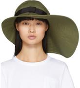 Sacai Khaki Wide Brim Beach Hat