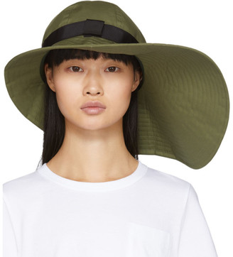 Sacai Khaki Wide Brim Beach Hat