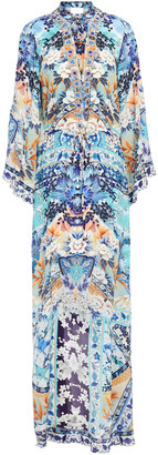 Camilla Crystal-embellished Printed Silk Crepe De Chine Maxi Dress