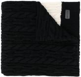 Saint Laurent cable knit long scarf