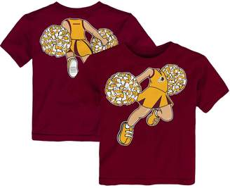 Redskins Outerstuff Girls Toddler Burgundy Washington Pom Pom Cheer T-Shirt