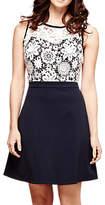 Yumi Floral Lace Top Dress, Dark Navy