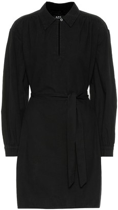 A.P.C. Maria belted cotton shirt dress