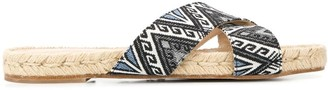 Solange printed twill sandals