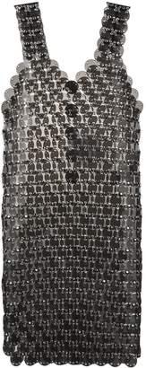 Paco Rabanne chain disc embellished dress