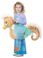 BuySeasons Girls' Kids Mermaid Riding a Seahorse Rider Costume - One Size Fits Most