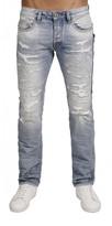 Cult of Individuality Rebel Straight Leg Zipper Jean