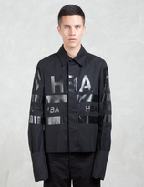 Hood by Air Logo Stripe Jockey Jacket