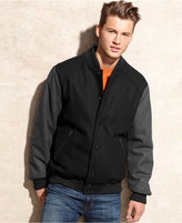 Buffalo David Bitton Jacket, Varsity Wool-Blend Bomber with Contrast Sleeves