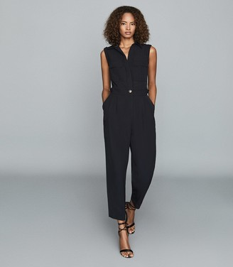 Reiss Abella - Utility Jumpsuit in Navy