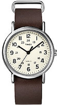 Timex Unisex Weekender Brown Slip Through StrapWatch