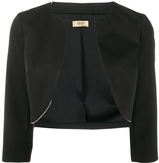 Liu Jo Crystal Trim Cropped Blazer