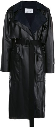 Proenza Schouler White Label Layered Belted Raincoat