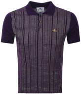 Vivienne Westwood Knitted Polo Jumper Purple