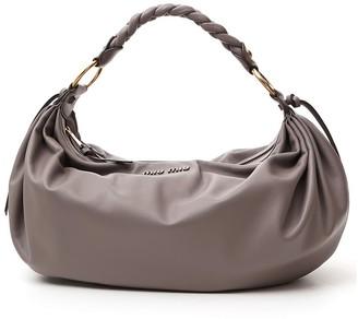 Miu Miu Braided Handle Shoulder Bag