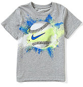 Nike Little Boys 2T-7 Exploding Baseball Graphic Short-Sleeve Tee