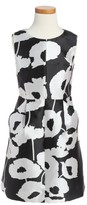 Milly Minis Girl's Milly Coco Poppy Print Dress