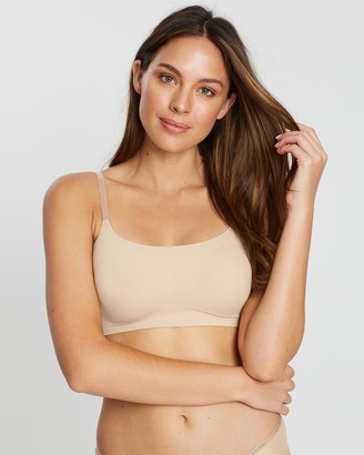 Calvin Klein Women's Nude Soft Cup Bras - Invisibles Bralette - Size S at The Iconic