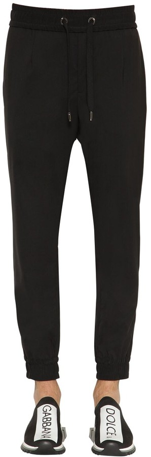 Dolce & Gabbana Wool Blend Canvas Pants