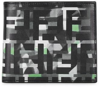 Fendi FF Printed Leather Wallet