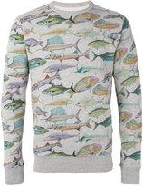 Bellerose fish print sweatshirt - men - Cotton - S