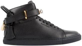 Buscemi Black Leather Trainers
