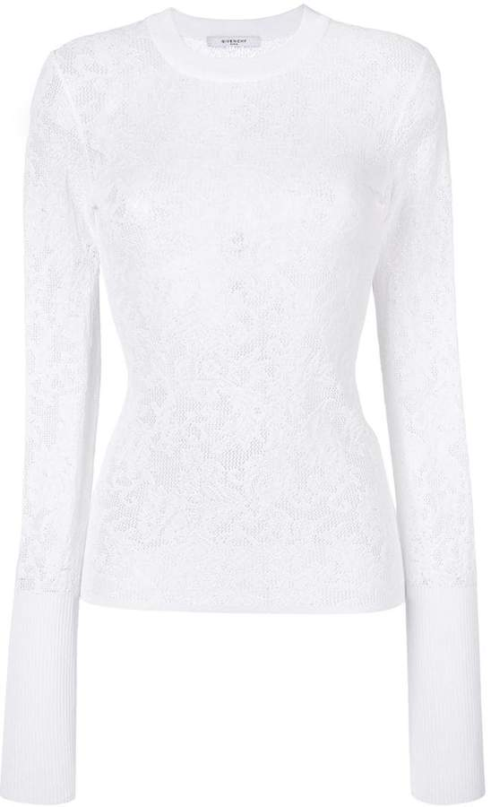 Givenchy floral knitted top