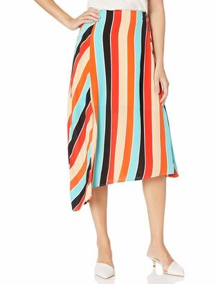 ASTR the Label Women's Monica Rainbow Aline MIDI Skirt