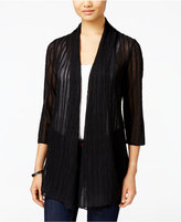 JM Collection Petite Open-Front Textured Cardigan, Only at Macy's
