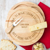 Dust and Things Personalised Cheese Board Pun Personalised Gift For Dad