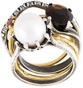 Iosselliani 'Silver Heritage' pearl ring set