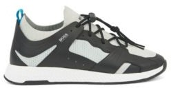 HUGO BOSS Hiking Inspired Sneakers With Leather Facings - Black