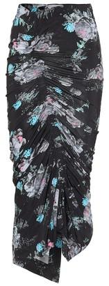 Preen by Thornton Bregazzi Becka floral stretch-crApe midi skirt