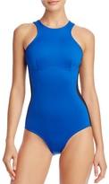 Stella McCartney Stella iconic colour block Racerback One Piece Swimsuit