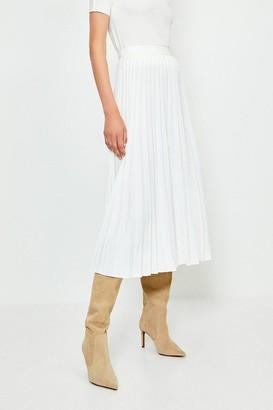 Karen Millen Short Sleeve Trim Detail Knitted Top