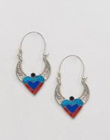 Reclaimed Vintage Inspired Heart COLORED Earrings