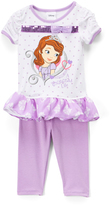 Children's Apparel Network Sofia the First 'A Princess Life' Ruffle Tee & Leggings - Infant