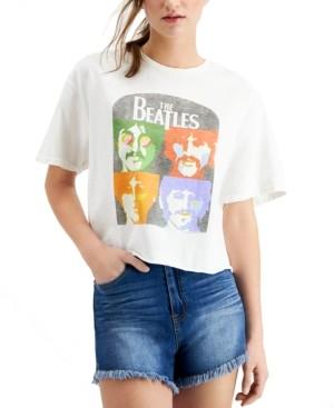 Junk Food Clothing Beatles Graphic Print Cotton T-Shirt