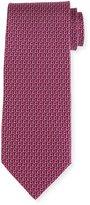 Salvatore Ferragamo Two-Tone Gancio Silk Tie, Purple