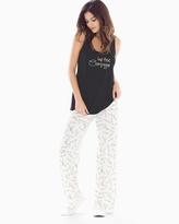 Soma Intimates Tank Pajama Set Pass The Bubbly Black