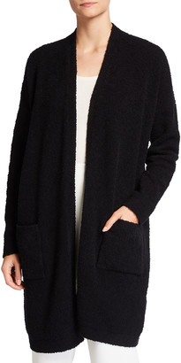 Eileen Fisher Petite Long Organic Cotton Boucle Cardigan