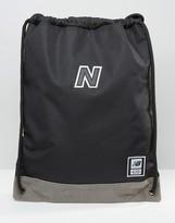 New Balance 420 Drawstring Backpack In Black