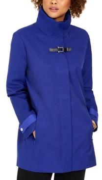 Cole Haan Hooded Buckled Raincoat